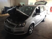 2007 Vauxhall Zafira 1.6 engine code Z16 xer £395 gearbox/silver colour doors/wheels/interior