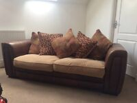 Leather 3 seater and 1 seater
