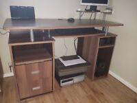 Computer desk (dark oak effect)