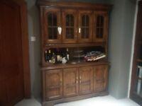 Dark Oak Display Cabinet/Dresser