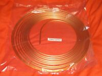 Branded copper brake pipe rolls in 25 ft lengths - three packs for £10