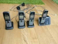 Panasonic phones quad pack KXTG6624EB