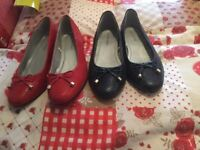 Assortment of ladies flat shoes wide fitting size 7