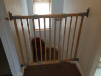 BabyDan Flexi Fit wooden stair gates x2