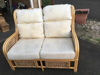 Two seater conservatory sofa
