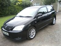 TOYOTA COROLLA 1-8 VVTL-I T SPORT 6-SPEED 3-DOOR 2003 (53 PLATE) MARCH 2018 MOT, VERY ATTRACTIVE.
