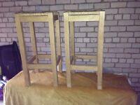 Geniue oak kitchen stools