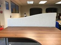 Desk Top Wave Screen, In Light Grey. Very Good Condition. 480mm - 280mm High. 10 In Stock.