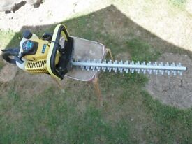 """Wolf Gardenline hedge trimmer WHT 22cc 24"""" Blade knot had a lot of work"""