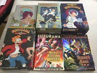 Futurama dvds - season 1,2,3,4 and specials