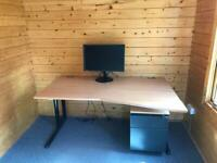 Solid heavy duty office work desk good used condition
