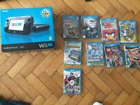 Nintendo wii u with 9 games