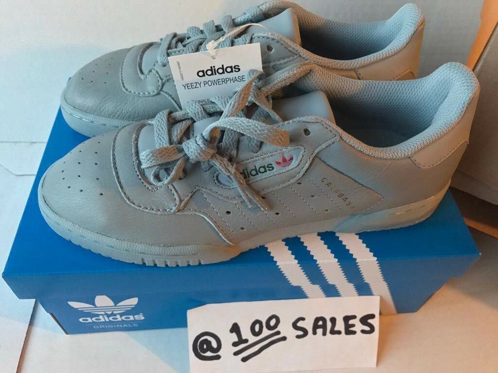 142a1bd38 ADIDAS x Kanye West Yeezy POWERPHASE CALABASAS Grey UK5.5 CG6422 ADIDAS  RECEIPT 100sales