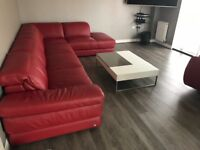 Barker and Stonehouse italsofa red leather suite