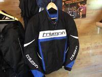 GENUINE TRIUMPH MOTORCYCLE JACKET TEXTILE UK 44/46 WORN 3 TIMES MINT