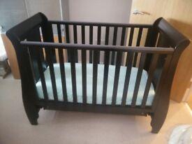 Tutti Bambini Katie Sleigh Cot bed Espresso - excellent condition - £125