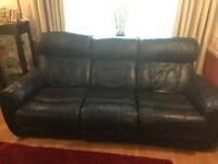 2 and 3 seater reclining leather sofas