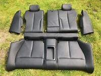 BMW F32 complete rear seat (black leather)