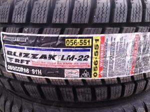 BRAND NEW BMW 3 SERIES WINTER TIRES P205/55R16X4 91H) BRIDGSTONE BLIZZAK LM-22 RUN FLAT for sale
