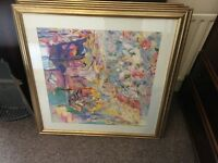 Various very large framed high quality Picasso prints.