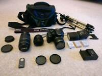 Canon eos 550d 50mm f1.8, 18-55mm kit, 75-300mm