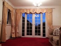 2 pairs of lined curtains