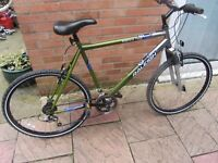 mens retro raleigh manta ray mountain bike 21inch frame with lock and lights £59.00