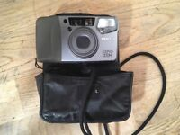 PENTAX ESPIO 115M compact 35mm film camera with case - auto focus - point and click - photography