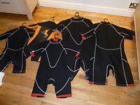 Wet suits.