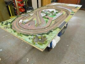Railway track layout, this has everything. electrics, lighting. hand built can deliver