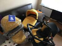 3 in 1 Travel System / Pushchair - including car seat and carrycot
