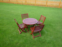 Alexander Rose Hardwood Childs Patio Table and 4 Chairs