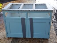 hand made painted mdf kitchen units and seating