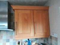 Shaker style kitchen cabinets, solid Oak doors.