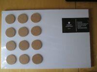 Dry Wipe Notice Board Student Study Write on/ Rub off Funky Modern Design Cork