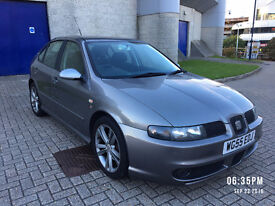2005 SEAT LEON FR TDI 150 SILVER-GREY, LOW MILEAGE, F/S/H, CLEAN EX, UNMODEFIED