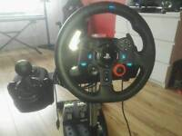 Logitech g29 with box gear knob and stand