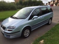 Fiat ulysse, mpv 7 seater, 05 plate, 2.0 petrol