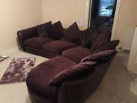 Beautiful Purple DFS Corner Sofa Couch