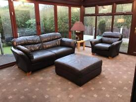 Next® Cost £2800 2 Seater Sofa + Armchair + Large Footrest Good Condition