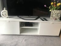 IKEA white gloss tv stand