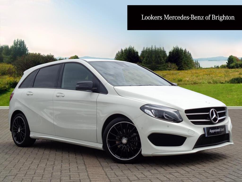 mercedes benz b class b 180 d amg line premium white. Black Bedroom Furniture Sets. Home Design Ideas