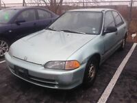 1993 Honda Civic LX AUTO, AIR, 4 DOOR