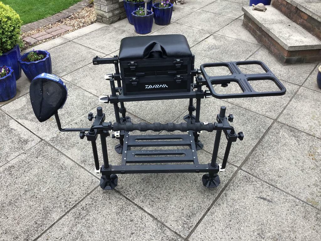 738f5b2d67e Daiwa 75 Seatbox, footplate, spray bar, side tray, pole sock, brolly arm,  strap