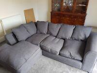 Corner sofa - dark grey - URGENT