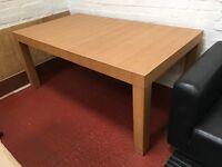 Large IKEA wood dining table