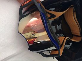 Oakley Airbrake Goggles - Blue / Orange - Mirrored Lens