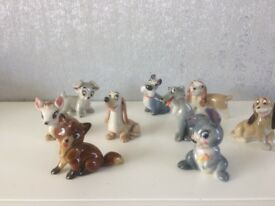 9 ceramic disney porcelain figures made by wade