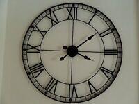 Brand New Large Black Metal Wall Clock. RRP £70