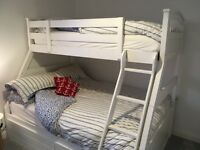 White Bunk Bed Double / Single